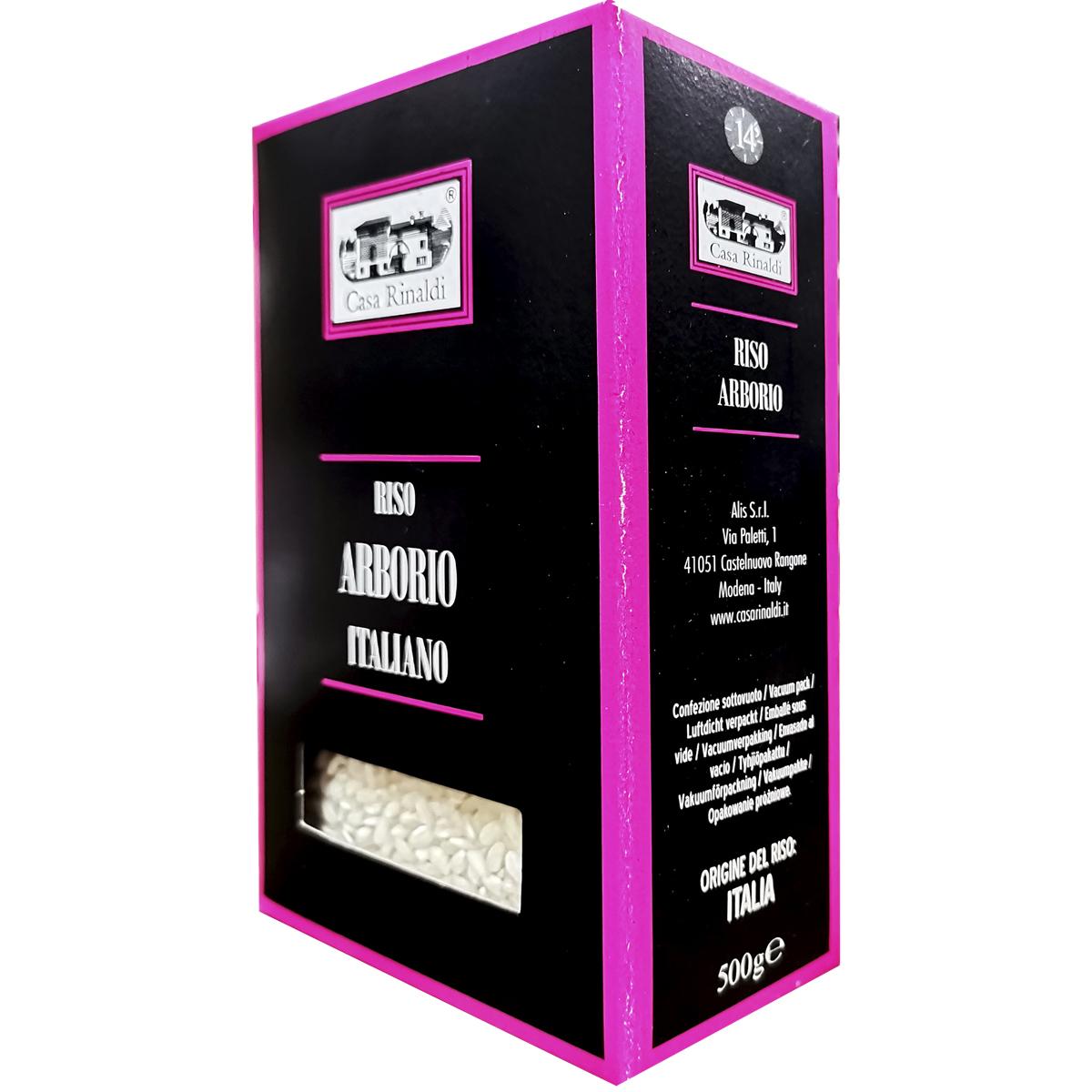 Рис Casa Rinaldi среднезёрный обрушенный не полированный Арборио 500 гр