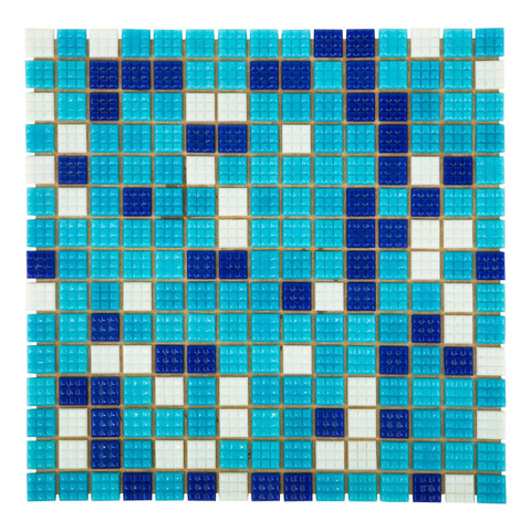 Мозаика стеклянная Aquaviva Bahama темная A20N(1)+A08N(2)+A07N(2)+C63N(5) / 6839