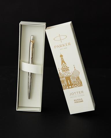Набор с гравировкой: Блокнот и Шариковая ручка Parker Jotter Russia123