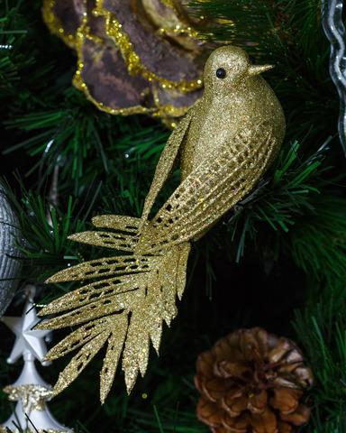 Новогодняя игрушка. Золотая птица.