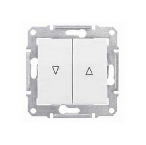 Выключатель для жалюзи с механической блокировкой 10А. Цвет белый. Schneider Electric Sedna. SDN1300321