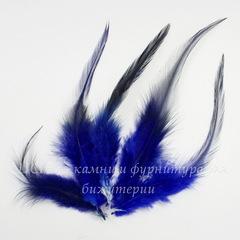 Перья декоративные (цвет - темно-синий) 11-15 см, 5 гр (около 110 шт)