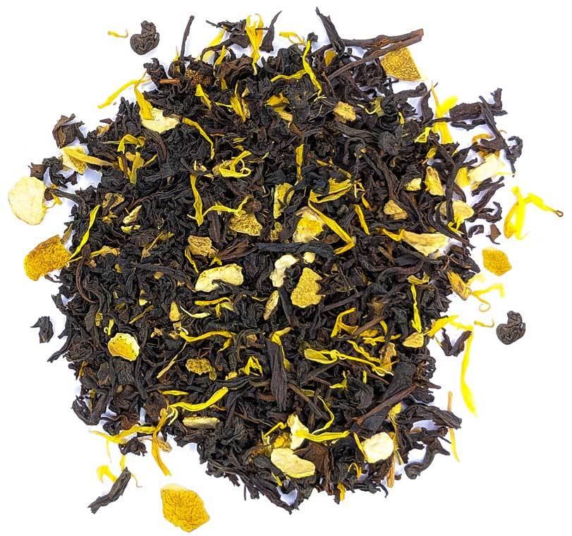 """Черный чай """"Апельсин с имбирем"""" черный чай с фруктами, травами и пряностями 100 гр imbirniy-teastar.jpg"""