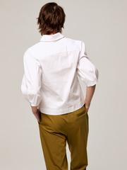 Рубашка с рукавами-буфами