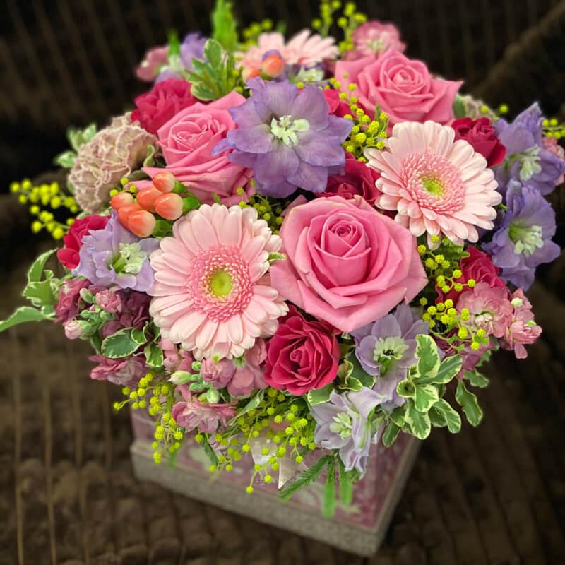 Цветочная композиция в коробке 356