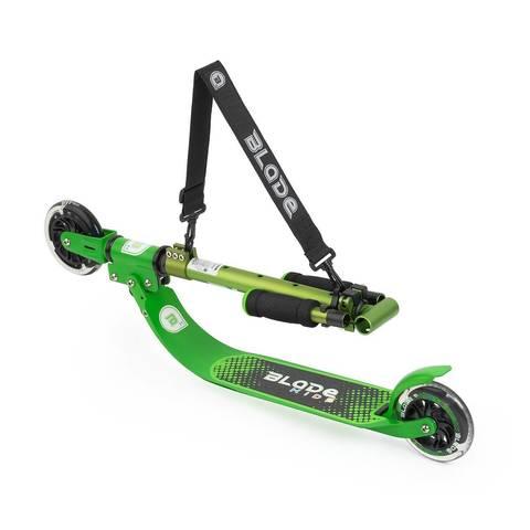 детский самокат со светящимися колесами блэйд кидс джимми 125 зеленый