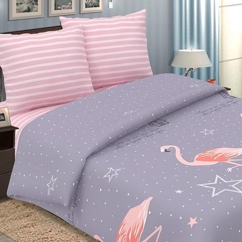 Постельное белье поплин Традиция (Фламинго)
