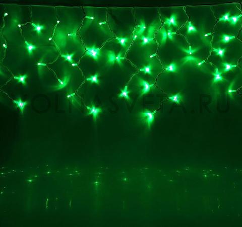 Гирлянда уличная Бахрома Зеленая, 5,6x0,9 м, LED-330-220V