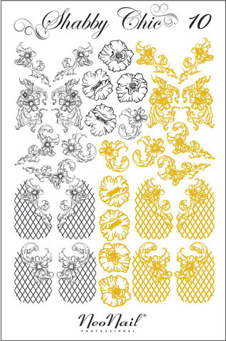 Трафарет для дизайна Shabby Chic 10 белый