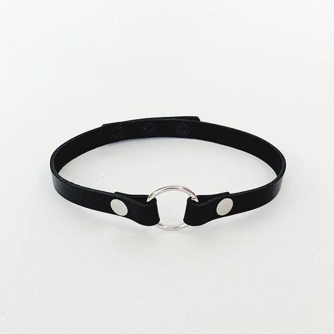 Isy Mo Чокер с кольцом (черный)