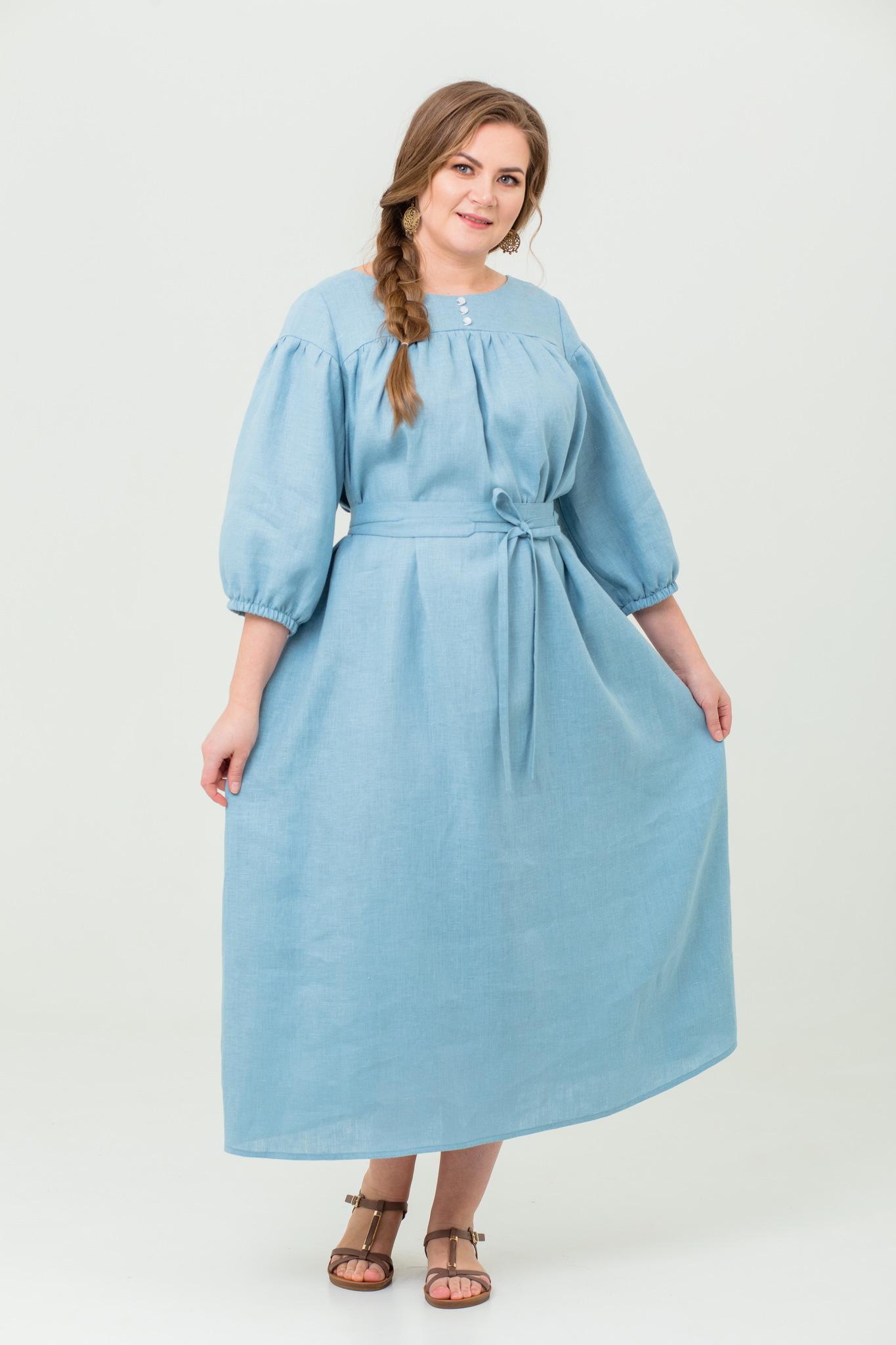 Платье льняное Босиком по росе
