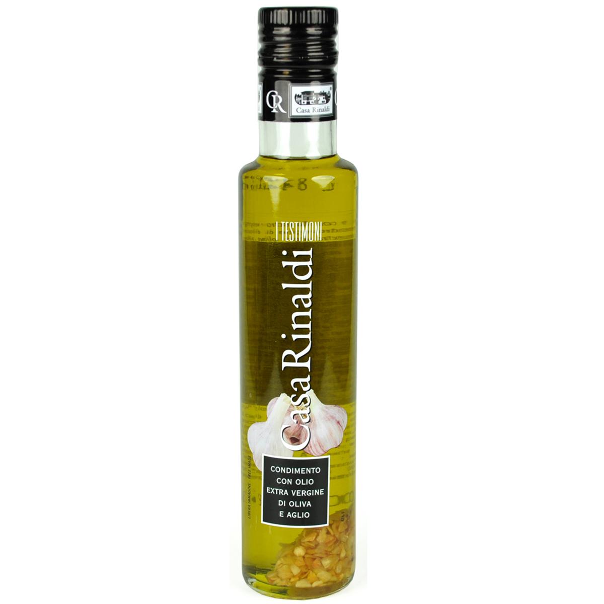 Масло Casa Rinaldi оливковое Extra Vergine с чесноком 250мл