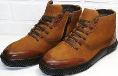 зимние ботинки мужские кожаные