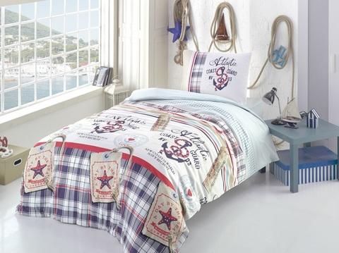 Подростковое постельное белье хлопок 1,5 сп. Морской стиль