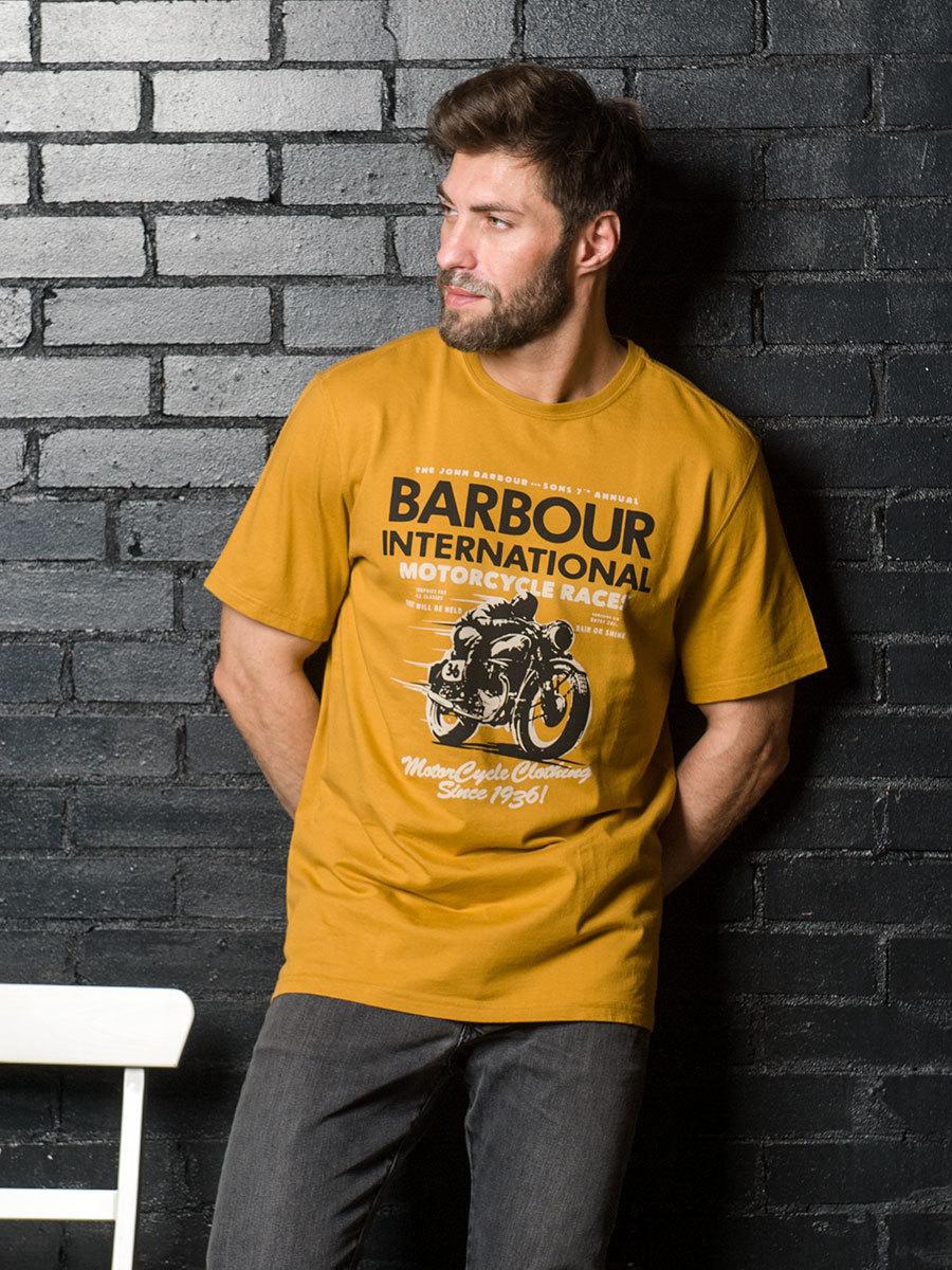 Barbour футболка  International Dyno Copper