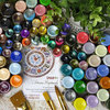 Полная палитра цветов, 49 оттенков, объем 50 мл, лаковые краски, перламутровые оттенки
