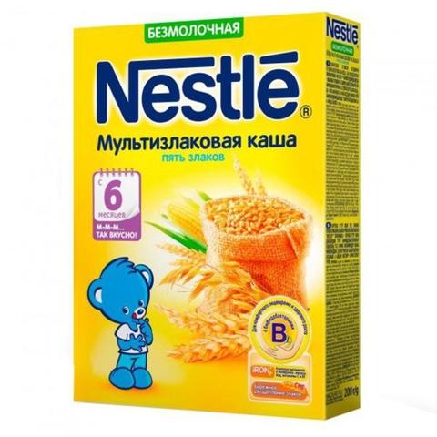 Каша NESTLE Безмолочная 5 злаков 200 гр РОССИЯ