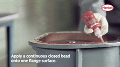 Нанесите непрерывный замкнутый валик на одну поверхность фланца