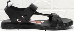 Кожаные сандали мужские летние босоножки Nike 40-3 Leather Black.