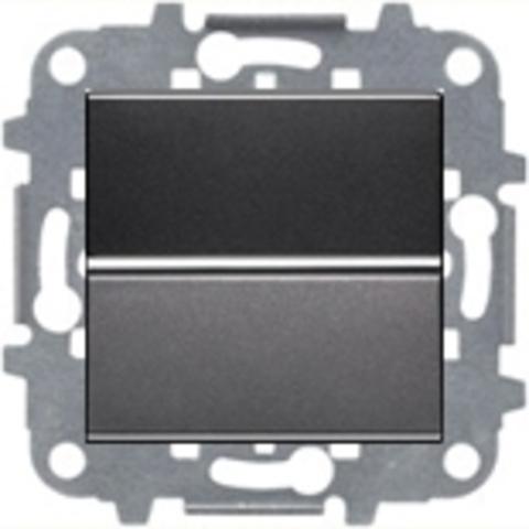 Переключатель промежуточный одноклавишный. Цвет Антрацит. ABB Niessen Zenit. N2210 AN+N2271.9