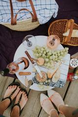 Складной столик для вина, нежно-бирюзовый, фото 2