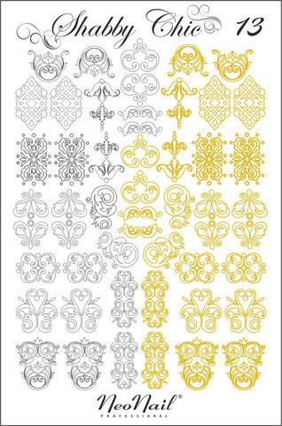 Трафарет для дизайна Shabby Chic 13 комбинированный