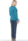 Джемпер-обманка для беременных 01037 зеленый