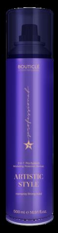Лак сильной фиксации для волос - Bouticle Artistic Style Hairspray Strong Hold - 500 мл