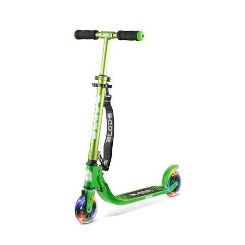 детский самокат со светящимися колесами блэйд кидц джими 125 зеленый