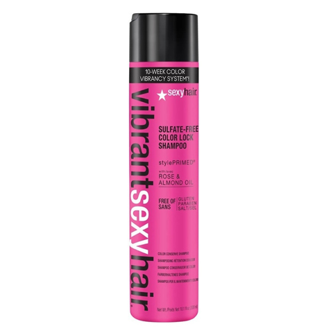 Sexy Hair Vibrant: Шампунь для сохранения цвета волос (Sulfate-Free Color Lock Shampoo), 300мл/1л