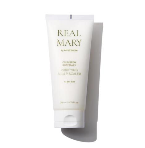 Rated Green Очищающая и отшелушивающая маска для кожи головы с морской солью и соком розмарина REAL MARY Purifying Scalp Scaler