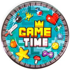 Тарелки бумажные, Game Time, Пиксели, 23 см, 6 шт.