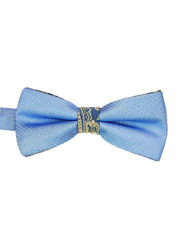 Галустук-бабочка голубой с отливом, ремешок регулируется по длине.