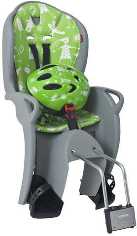 Картинка велокресло Hamax Kiss Safety Package Grey/Green - 1