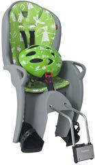 Детское велокресло со шлемом Hamax Kiss Safety Package Medium 551089 Grey/Green