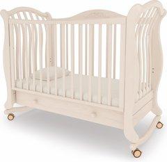 Кровать детская Габриэлла люкс на колесиках с ящиком выбеленный бук