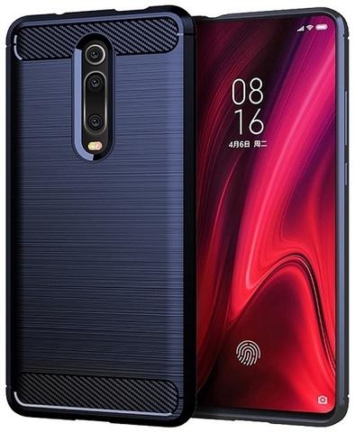 Чехол Xiaomi Mi 9T (9T Pro, Redmi K20, K20 Pro,K20 Pro Premium) цвет Blue (синий), серия Carbon, Caseport