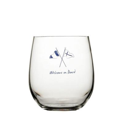 NON SLIP WATER GLASS, WELCOME ON BOARD 6UN