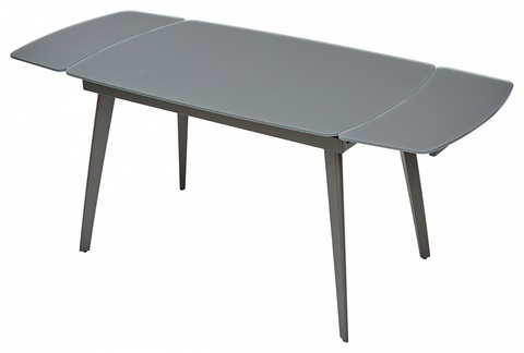 Стол ELIOT 120 Frosted Grey1 glass+Grey1 М-City