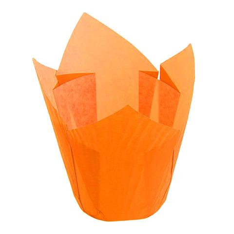 Форма-тюльпан оранжевая, 20шт