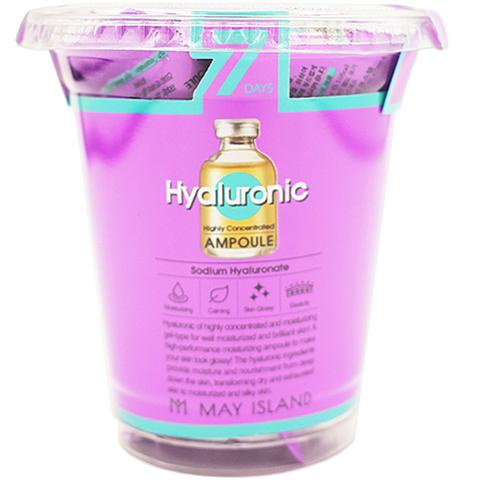 Набор cывороток для лица гиалурон. увлажняющих May Island Seven Days Hyaluronic Ampoule 12шт*3мл