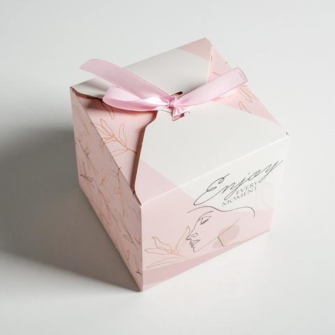 Коробка подарочная Enjoy, 12*12 см