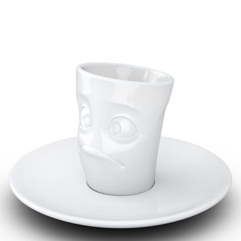 Кофейная чашка с блюдцем Tassen Buffled 80 мл белая