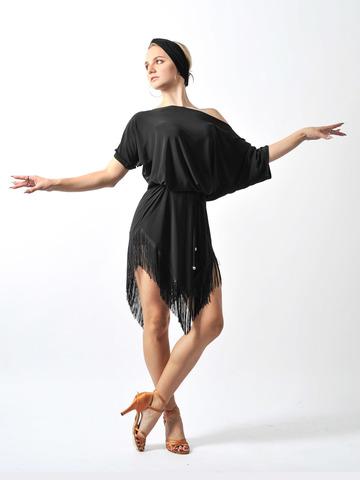 Туника-платье с бахромой