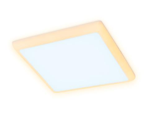 Встраиваемый cветодиодный светильник с подсветкой DCR337 24W+6W 6400K/3000K 85-265V 230*230*32 (A210*210)