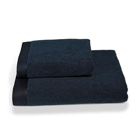 НАБОР махровый мужской халат LORD синий с полотенцами SOFT COTTON Турция