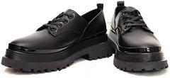 Черные туфли на тракторной подошве женские Marani magli M-237-06-18 Black.
