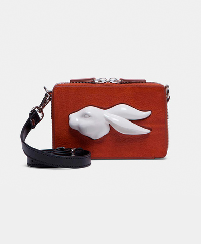 Сумка Rect Mini Rabbit Head Bag Vegetable Brandy