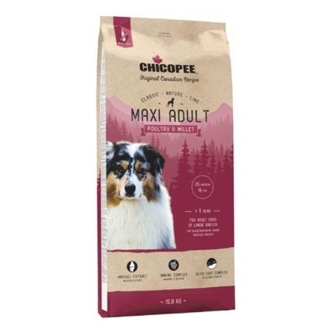 Chicopee CNL Maxi Adult Poultry & Millet корм для взрослых собак крупных пород с птицей и просом, 15 кг.