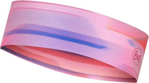 Узкая спортивная повязка на голову Buff Headband Slim CoolNet Ne10 Pale Pink фото 1